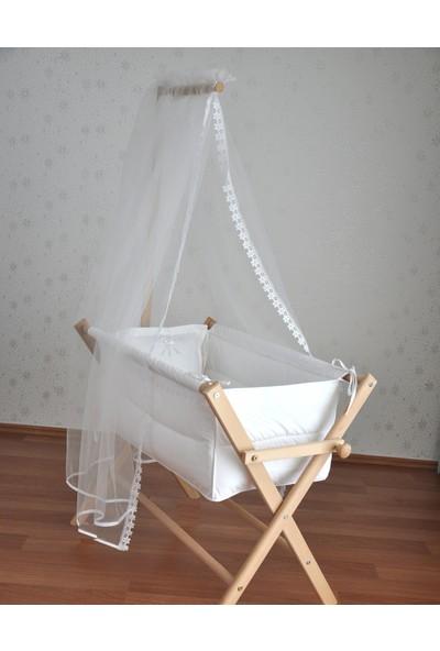 Ceebebek Eva Ahşap Bebek Beşiği 60x120 cm