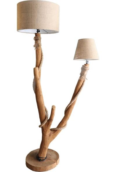Wood Book Çift Kafalı Lambader