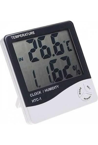 Htc Termometre Dijital Nem Ölçer Sıcaklık Isı Alarmlı