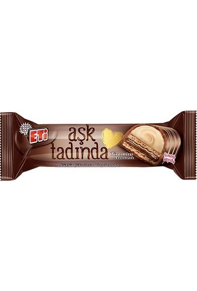 Eti Aşk Tadında Sütlü Çikolata Kaplamalı, Tiramisu Aromalı ve Kakao Kremalı Gofret 45 gr 12' li