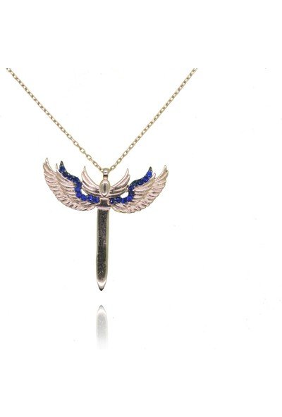 Grigümüş 1633 925Ayar Mikail Meleği Gümüş Kolye