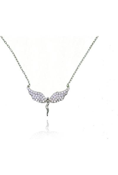 Grigümüş 1640 925Ayar Melek Modeli Gümüş Kolye