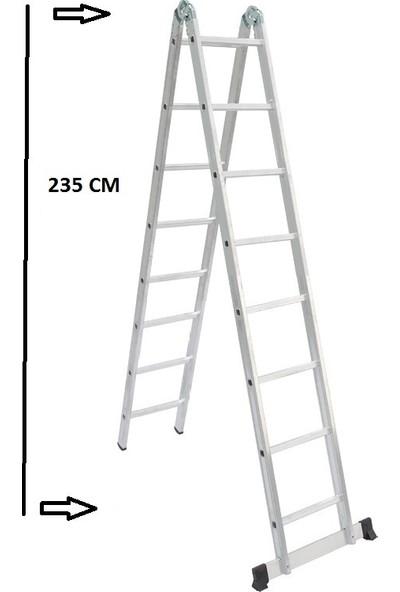 Beykon Alüminyum 8+8 Basamaklı Çok Amaçlı Merdiven