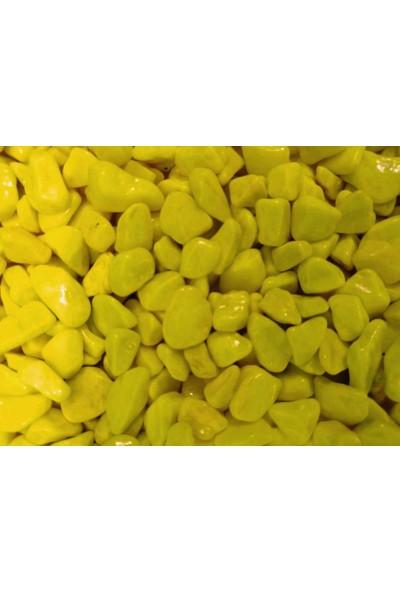 Woddy Akvaryum İçin Fosforlu Sarı Renkli Çakıl Taşı 1 kg