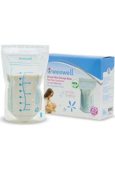Weewell WMS825 Süt Saklama Poşeti 200'lü