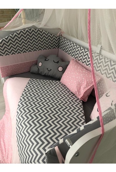 Mini Baby Gri Pembe Bebek Uyku Seti 11 Parça