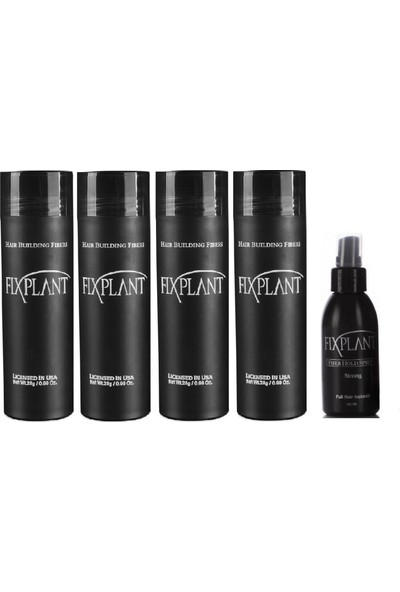 Fixplant 4 Set 112 gr ( Saç Gürleştirici, Saç Dolgunlaştırıcı, Saç Fiberi, Saç Tozu )