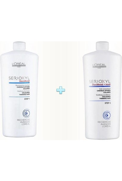 L'Oréal Professionnel Serioxyl Boyalı Saçlar İçin Dolgunlaştırıcı Şampuan 1000 ml + Serioxyl Boyalı Saçlar İçin Krem