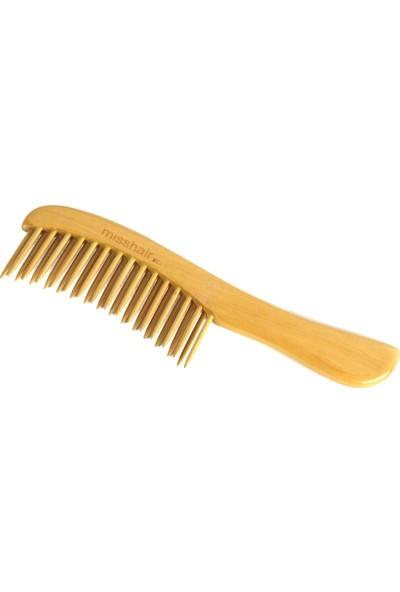 Miss Hair Doğal Bambu Ve Masif Acma Tarağı Bambu Tarak / Açık Renk