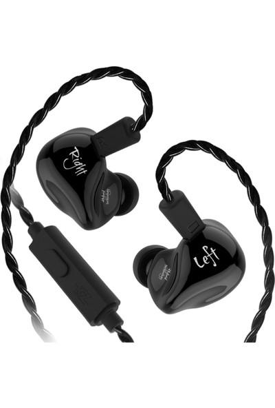 Kz Zs4 Dual Driver Hybrid Hi-Fi Mikrofonlu Kulaklık - Siyah