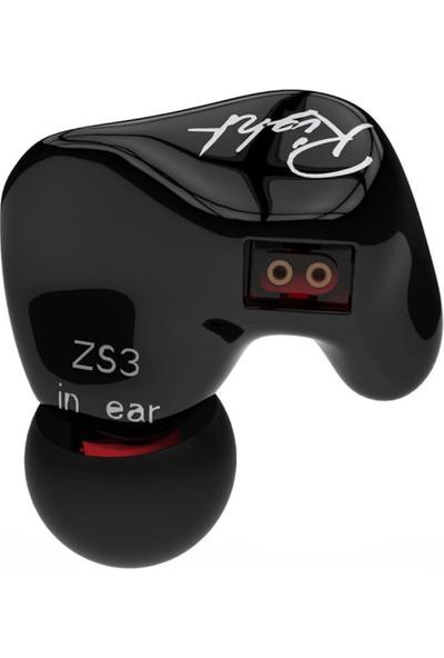 Kz Zs3 Dinamik Sürücü Hi-Fi Ses Kalitesi Mikrofonlu Kulaklık - Siyah