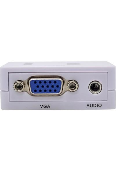 Onten Vga To Hdmı Full Hd 1080P Görüntü Ve Ses Dönüştürücü Çevirici Tv Projeksiyon Yansıtma Vga2Hdmı Mini Switch
