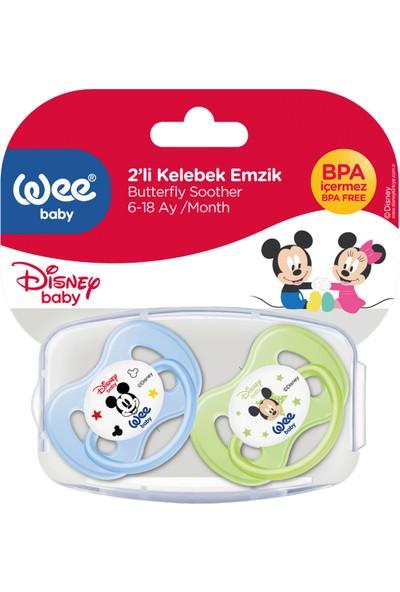 Wee Baby Disney Mickey & Minnie - 2'li Kelebek Emzik No:2 - Mavi