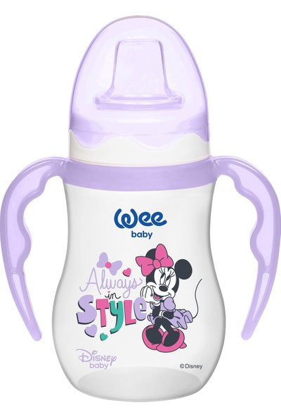 Wee Baby Disney Mickey & Minnie - Akıtmaz Suluk 250 ml - Mor