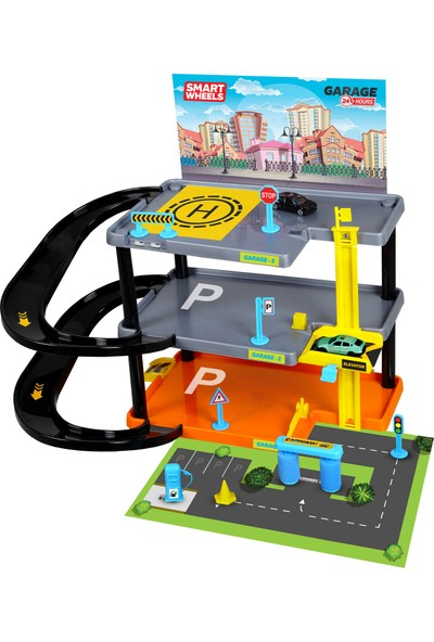 Smart Wheels 3 Katlı Otopark Garaj Seti