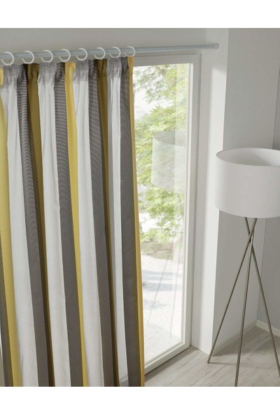 Germe Çubuğu - Banyo Perde Borusu Beyaz Gardinia 125x220 cm