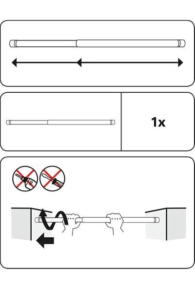 Germe Çubuğu - Banyo Perde Borusu 125x220 cm