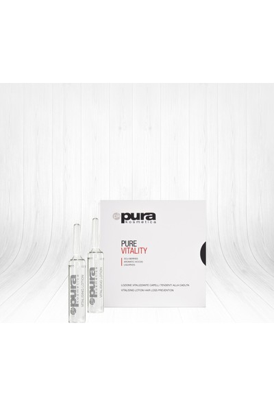 Pura Kosmetica Pure Vitality Lotion Enerji Verici Kompleks Ampül 12x6ml