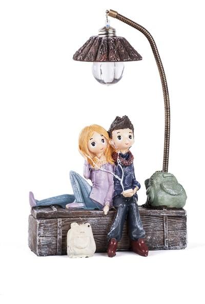 Mukko Home Işıklı Sevgili Biblo 12 cm