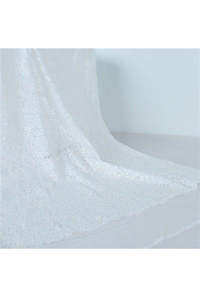 Jaju Baby Beyaz Pullu Payet Kumaş