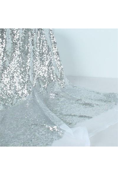Jaju Baby Gümüş Pullu Payet Kumaş
