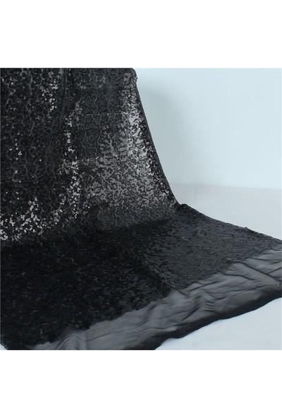 Jaju Baby Siyah Pullu Payet Kumaş