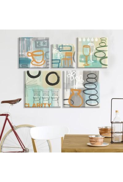 Sanatsal Kanvas Tablo Kombin 117 x 102 cm