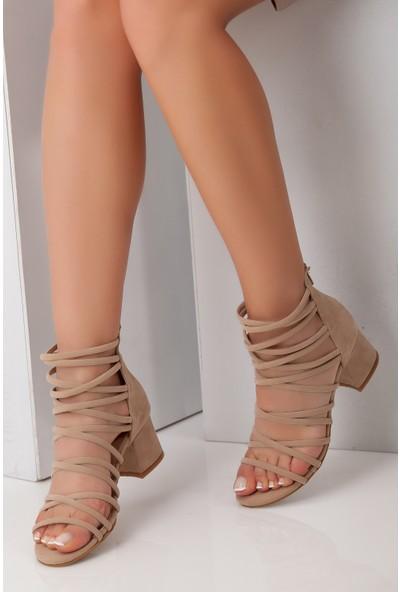 Tarçın Trc01-0148-8 Günlük Kadın Topuklu Ayakkabı