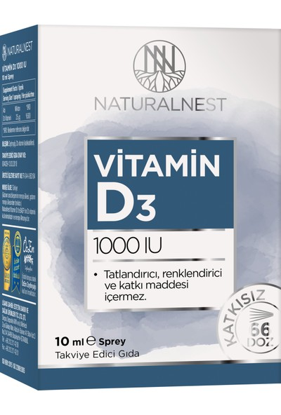 NaturalNest Vitamin D3 1000 IU 10 ml Sprey