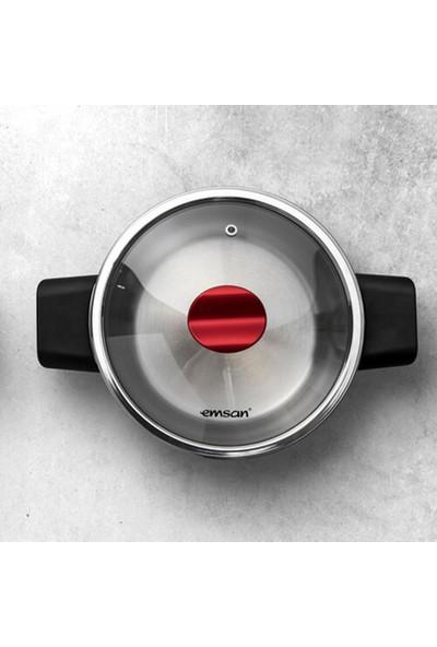 Emsan Innocook 4+6,5 Lt Düdüklü Tencere Seti Kırmızı
