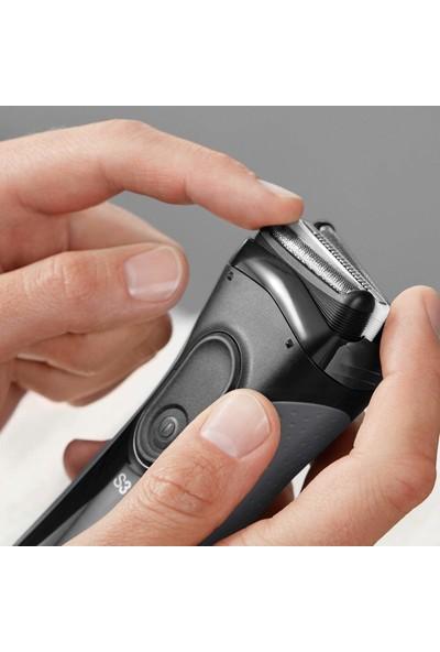 Braun Series 3 3000vs Islak Ve Kuru Şarj Edilebilir Kablosuz Siyah Tıraş/Traş Makinesi + Braun EN10 Burun&Kulak Tüy Alma Cihazı Hediyeli