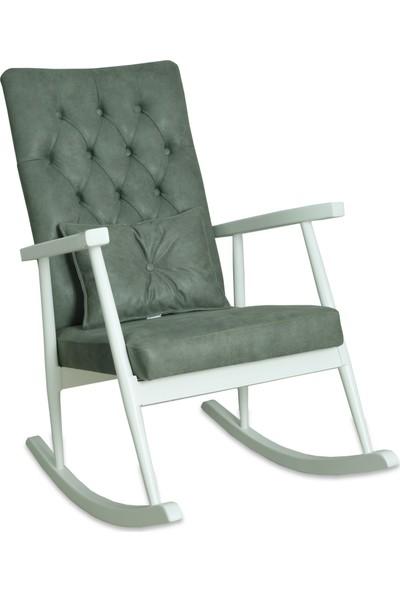 Asedia Teksas Lake Beyaz-Kapitoneli Yeşil Sallanan Sandalye