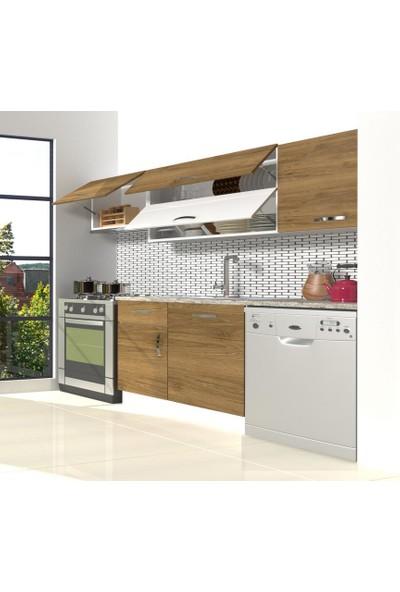 Decoraktiv Hazır Mutfak Dolabı Elite 220 cm Pera -Tezgah Dahil