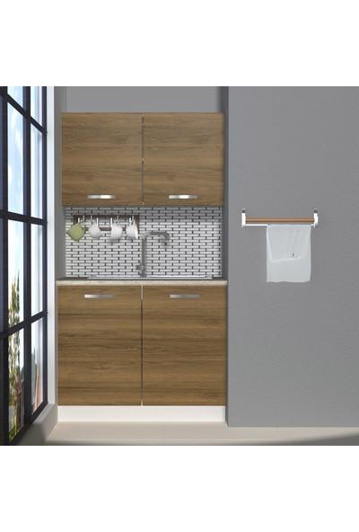 Decoraktiv Hazır Mutfak Dolabı Mini 100 cm Pera -Tezgah Dahil