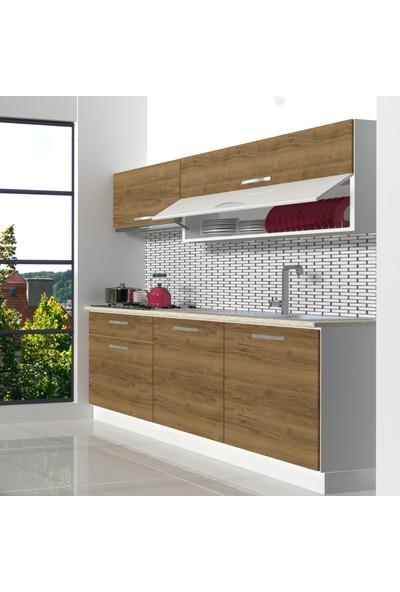 Decoraktiv Hazır Mutfak Dolabı Style 160 cm Pera -Tezgah Dahil