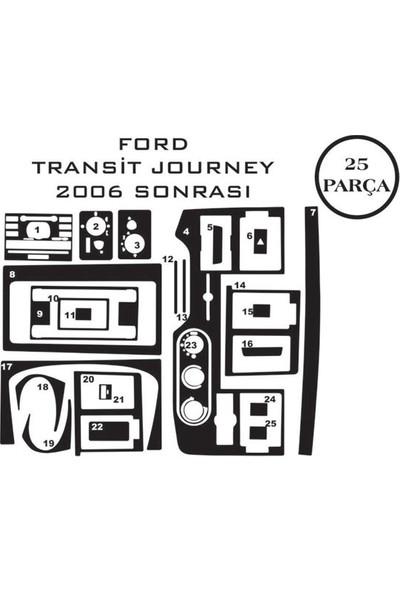 Carat Konsol Maun Kaplama Ford Transit T6 06-14 Journey 12 Parça