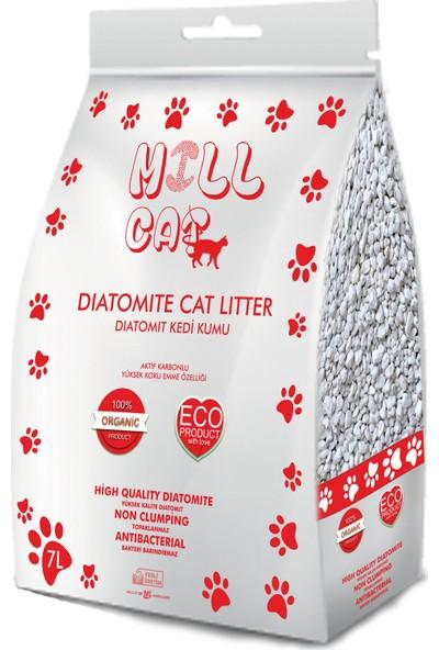 Mill Cat Aktif Karbonlu Diatomit Kedi Kumu 7 lt