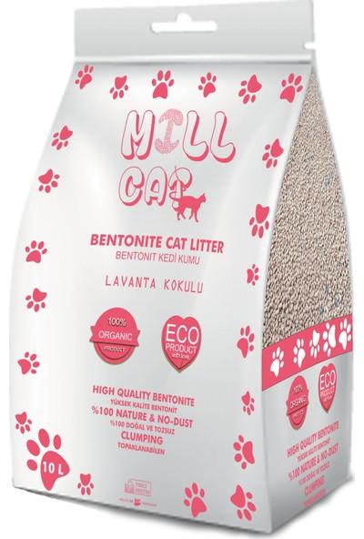 Mill Cat Lavanta Kokulu Antibakteriyel Bentonit Kedi Kumu 10 lt
