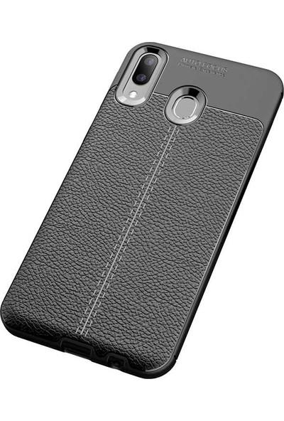 Case 4U Samsung Galaxy M20 Kılıf Darbeye Dayanıklı Niss Arka Kapak Siyah