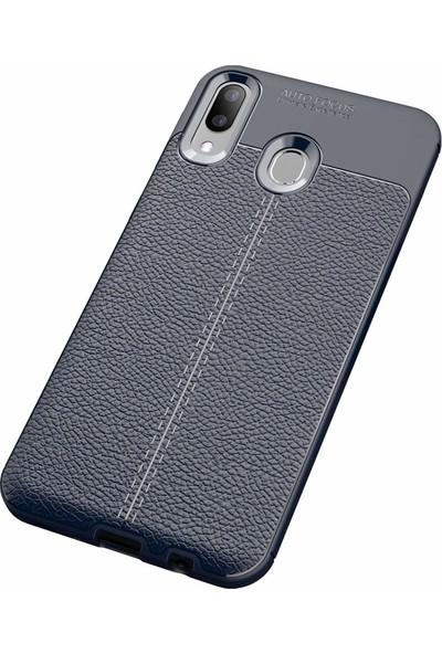 Case 4U Samsung Galaxy M20 Kılıf Darbeye Dayanıklı Niss Arka Kapak Lacivert