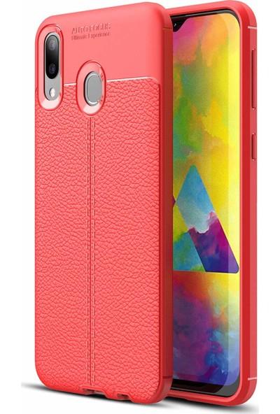 Case 4U Samsung Galaxy M20 Kılıf Darbeye Dayanıklı Niss Arka Kapak Kırmızı