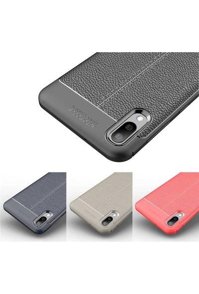 Case 4U Samsung Galaxy M10 Kılıf Darbeye Dayanıklı Niss Arka Kapak Kırmızı
