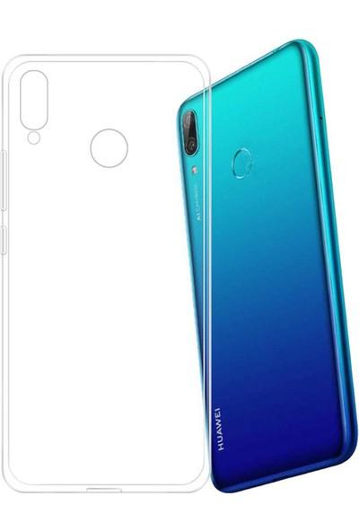 Case 4U Huawei Y7 2019 Kılıf Süper Silikon Arka Kapak Şeffaf