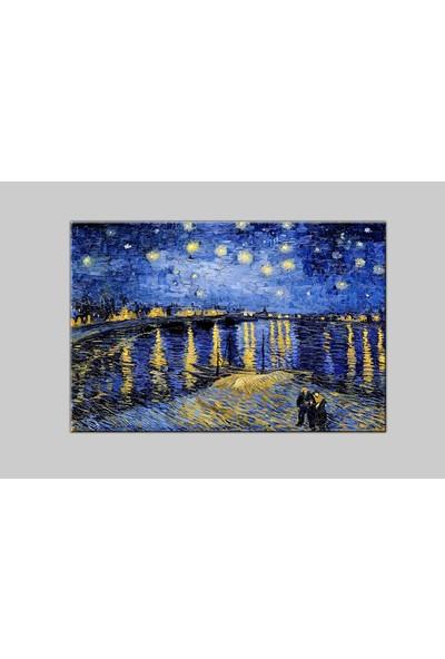 Decobritish Van Gogh Yıldızlı Gece Kanvas Tablo