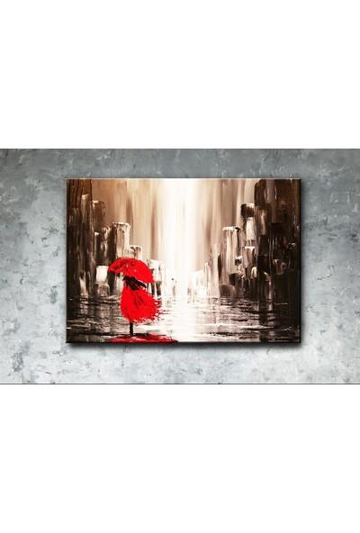 Decobritish Kırmızı Şemsiye Kanvas Tablo