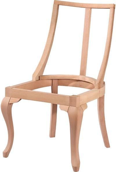 Obuts Home 4608 Dünya Sandalye Lükens Cilasız Ahşap Ham