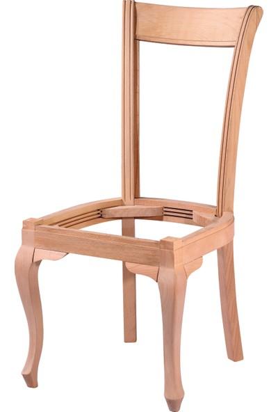 Obuts Home 4562 Lükens Düz Sandalye Cilasız Ahşap Ham