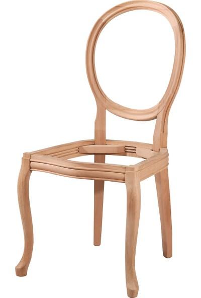 Obuts Home 4526 Madalyon Sandalye Cilasız Ahşap Ham