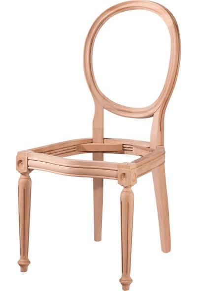 Obuts Home 4534 Tornalı Sandalye Cilasız Ahşap Ham