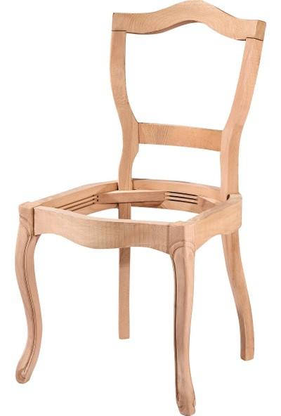Obuts Home 4565 Kelebek Sandalye Cilasız Ahşap Ham